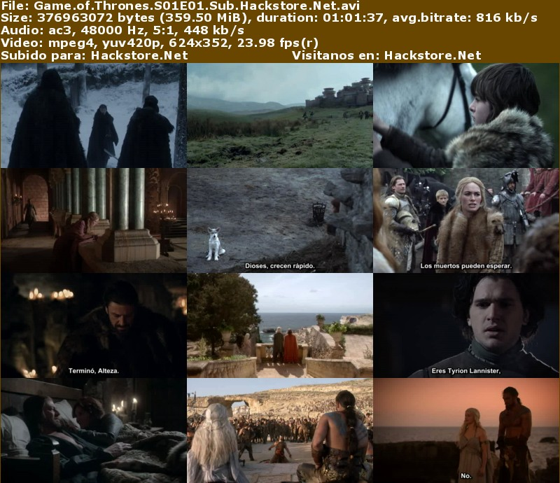 Capturas de Game of Thrones Primera Temporada Subtitulado