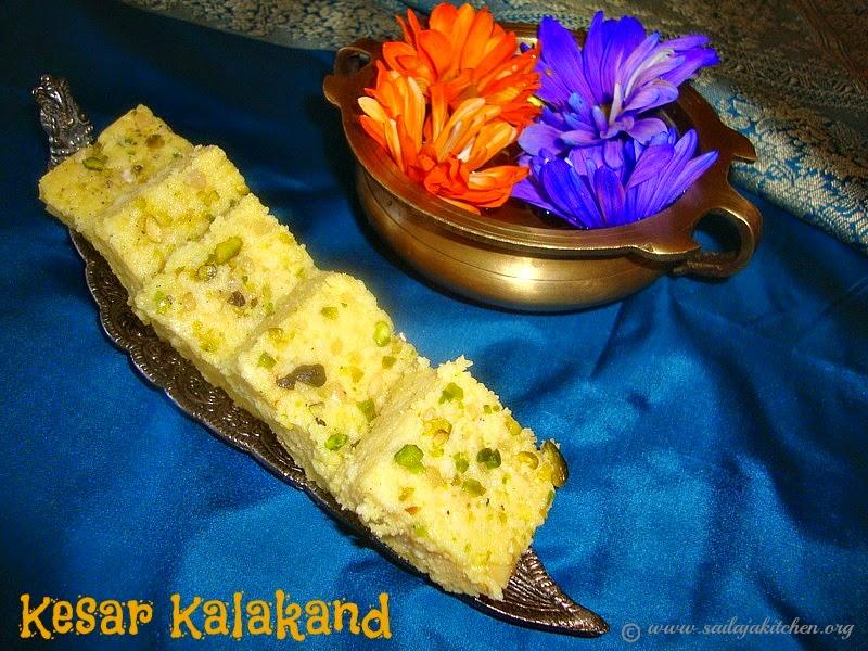 images for Kesar Kalakand / Kesar Kalakandh Recipe / Instant Kesar Kalakand / Microwave Kesar Kalakand / Easy Kesar Kalakand Recipe