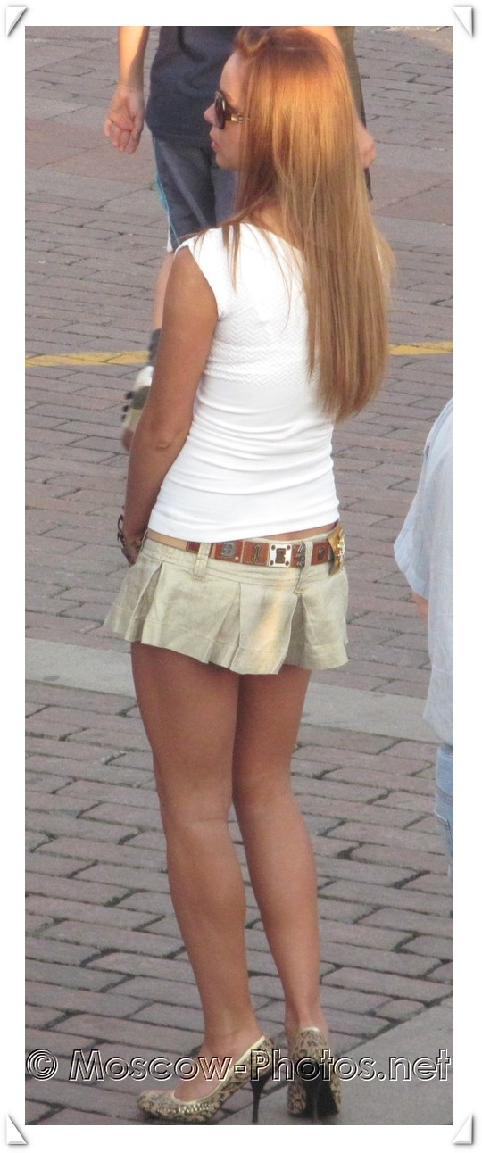 Sexy Moscow girl in mini skirt
