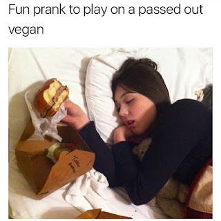 hamburger for unconscious vegan prank