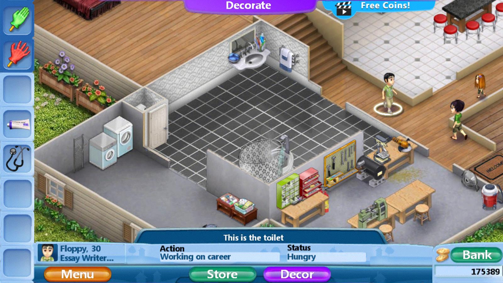 Virtual families 2 home renovation bathroom remodel for Virtual home remodel