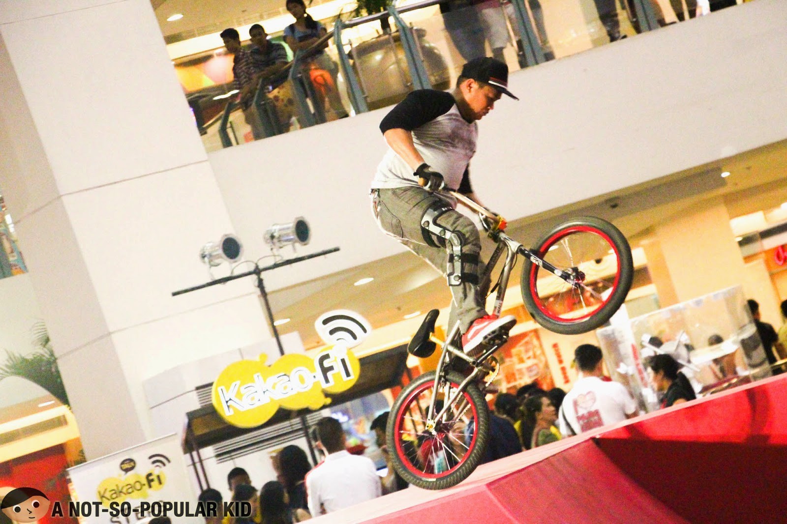 Bicycle stunts during the LSeries III Product Launch
