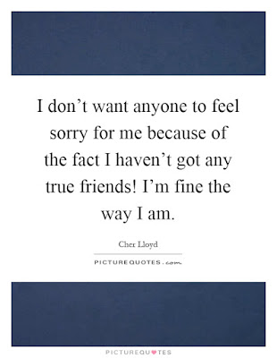 i-don't-want-anyone-to-feel-sorry-for-me-because-of-the-fact-i-haven't-got-my-true-friends