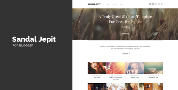 Sandal Jepit Blogger Template Free download