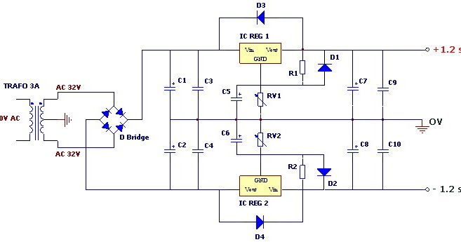 Wahana Elektronika Rangkaian Variable Power Supply