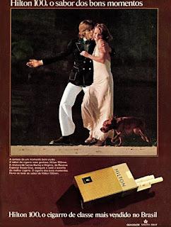 propaganda cigarros Hilton 100 mm - 1974, cigarros Hilton anos 70, souza cruz anos 70, cigarros década de 70, Oswaldo Hernandez,