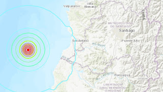 Um terremoto de magnitude 5,7 sacode a costa do Chile
