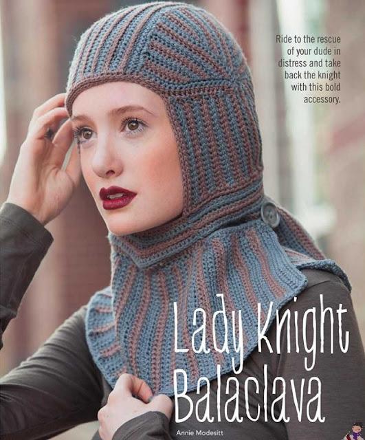 Patrón #1234: Lady Knight Balaclava a Crochet