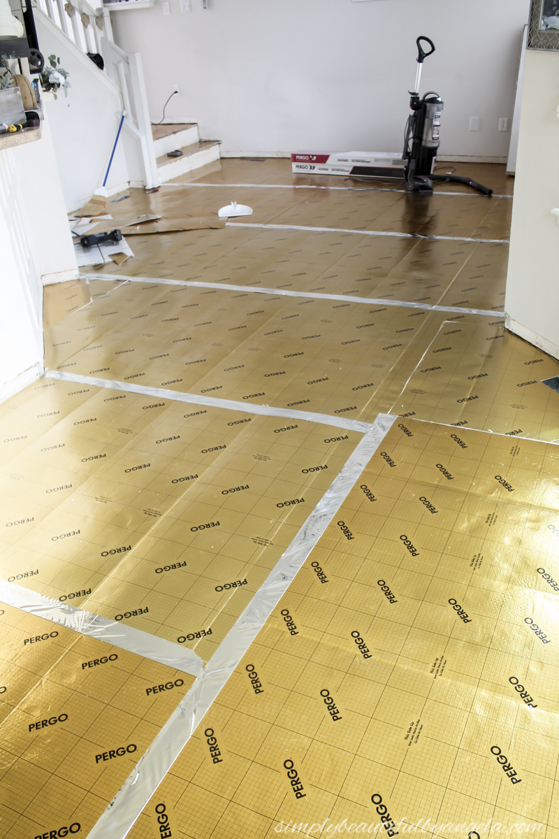 We went with Pergo Gold Underlayment even though it was the priciest. In our opinion it was worth the few extra dollars because it created a better barrier ...
