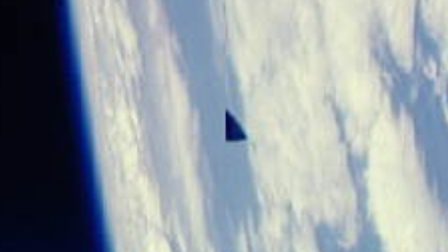 The Black Triangle UFO as seen by the astronauts from the Space Shuttle Columbia.