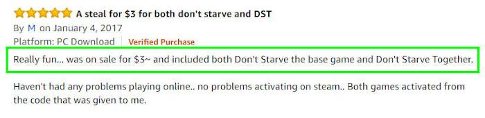 Don't starve アマゾン