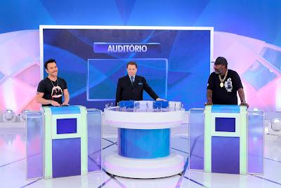 Matheus, Silvio Santos e MC Catra - Crédito: Lourival Ribeiro/SBT