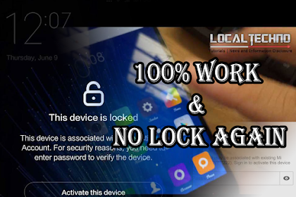 CARA FIX LOCK ACTIVATION ALL XIAOMI REDMI NOTE 3/4 DIJAMIN SUKSES 100% TANPA LOCK AGAIN