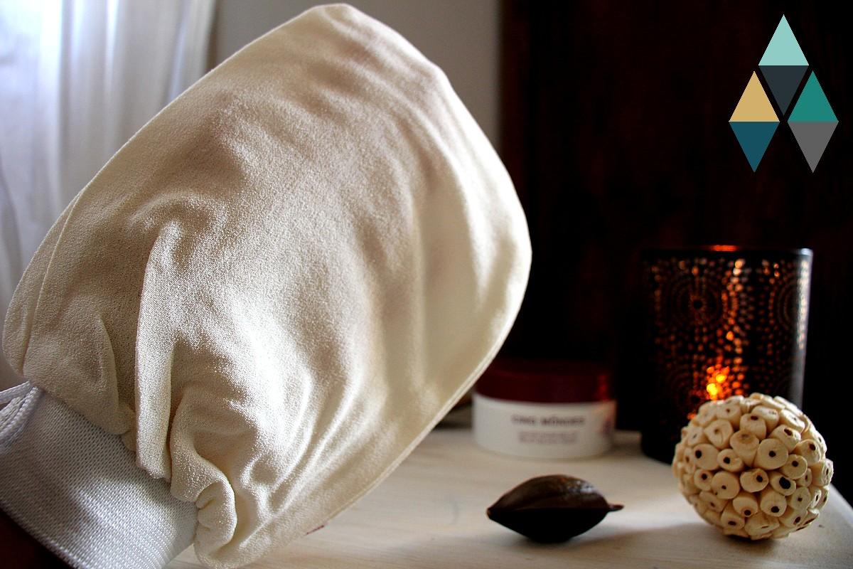 avis et test gant de kassa naturel exfoliant Cinq mondes rituel hammam