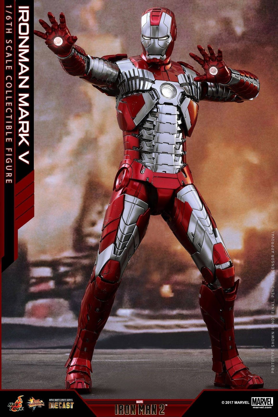 onesixthscalepictures hot toys iron man 2 iron man mark v diecast latest product news for 1 6. Black Bedroom Furniture Sets. Home Design Ideas