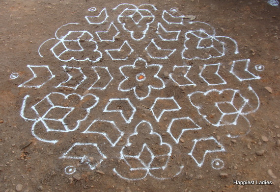 large rangoli for festival
