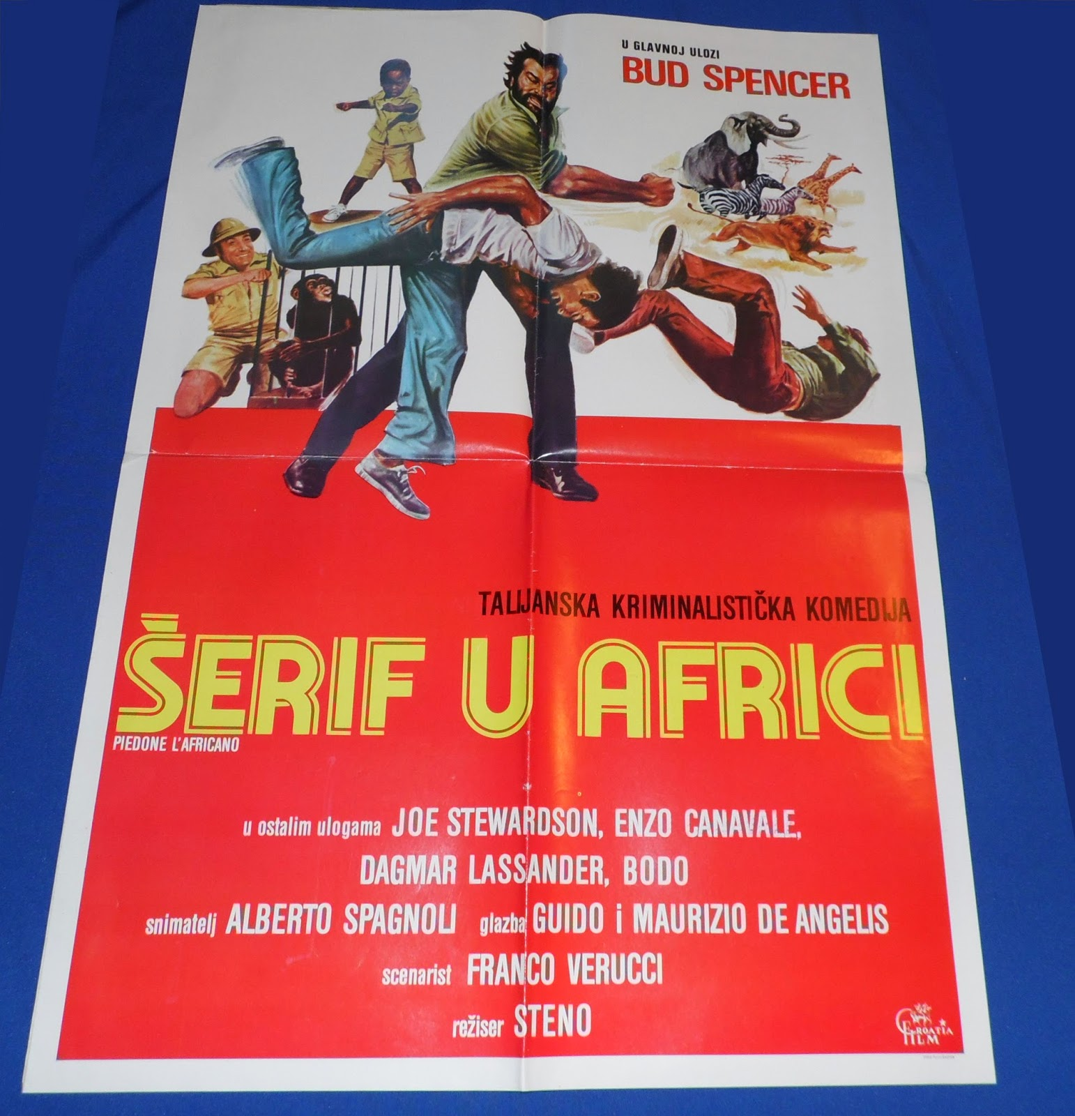 Yugorare Movie Posters Flatfoot In Africa 1978 Piedone L Africano