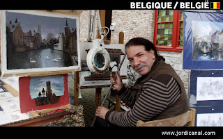 Pintor a Bruges, Belgium, Jordi Canal-Soler