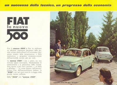 1957 Fiat 500 ad