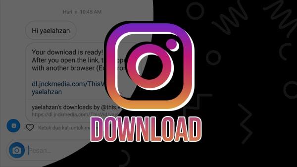 Cara Download Foto dan Video Instagram Hanya Dengan Tag/Mention Akun