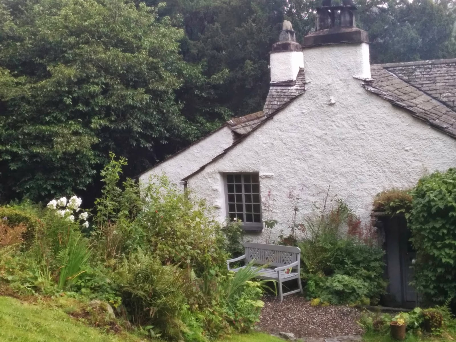 Wordsworth's garden of Dove Cottage