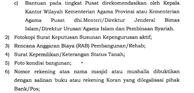 Juknis Bantuan / Rehab Masjid dan Musholla Tahun 2017