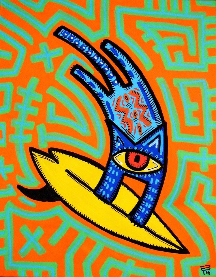 El surf art étnico de Eduardo Bolioli