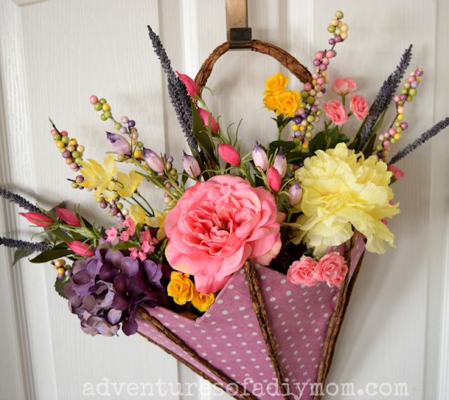Spring Flowers Decoration for Front Door