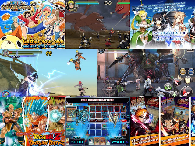 Download Kumpulan Game Anime Android MOD Terbaik Terbaru 2017