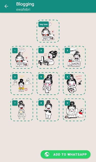Stiker Whatsapp blogging series
