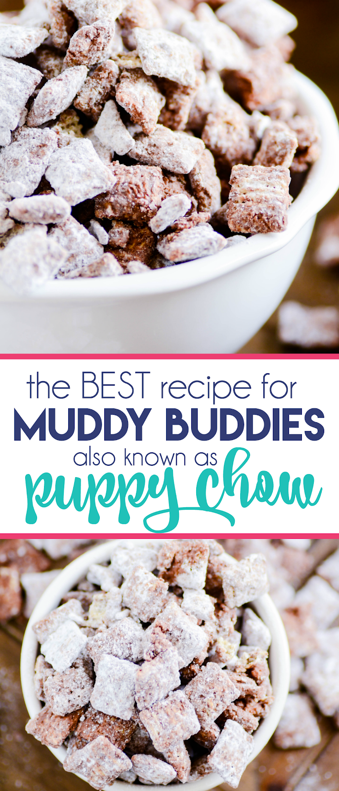 Muddy Buddies are one of my all-time favorite treats. Be sure to save this recipe, you won't want to lose it!