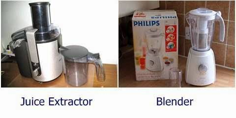 Alat membuat jus blender dan juice extractor