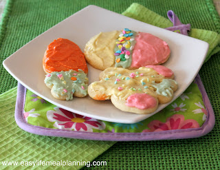 Easter Frosted Sugar Cookie - Easy Life Meal & Party Planning