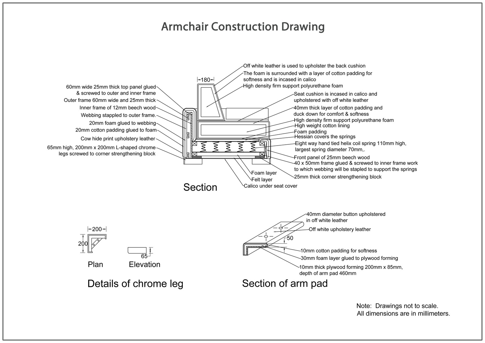 Sofa Drawing Details Wiado. Sophisticated Sofa In Sections