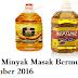 Harga Minyak Masak Terkini Bermula 1 November 2016