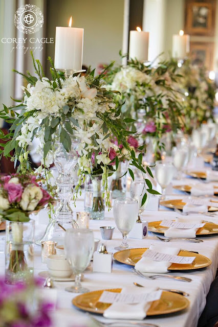 tall centerpieces | Corey Cagle Photography