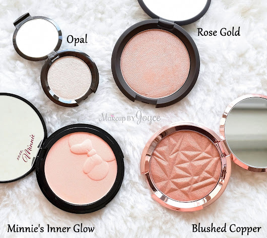 Swatches + Review: Becca Shimmering Skin Perfector Pressed Highlighters and Sephora x Disney Minnie's Inner Glow