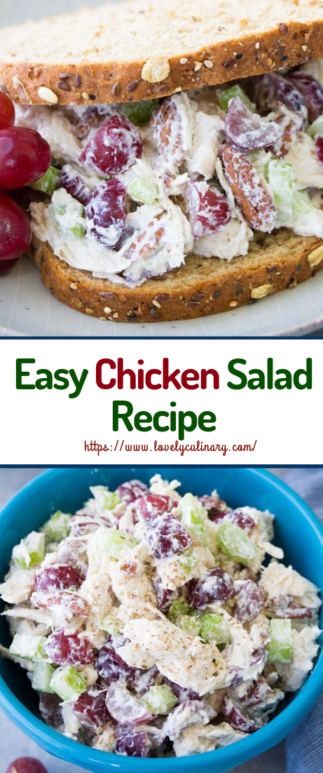 Easy Chicken Salad Recipe #recipeeasy #healthyfood
