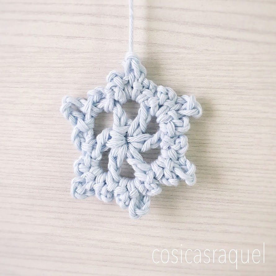 Copo de Nieve Crochet - Handbox Craft Lovers | Comunidad DIY ...