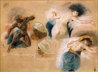 Esquisse Mort Sardanapale, Delacroix