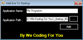 Startup Manager Source Code