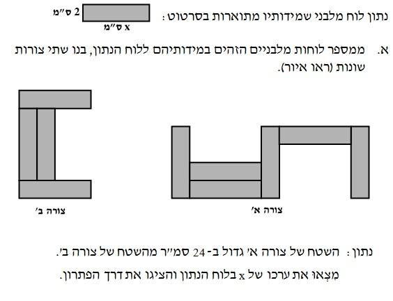 שאלה  11 - הרכבת תבנית פסוק ופתרונה