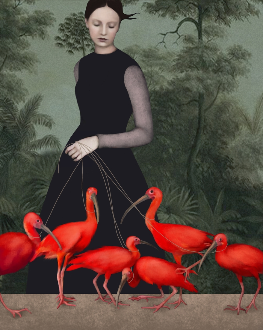 02-The-Lady-of-the-Ibis-Daria-Petrilli-Photograph-Collage-to-Produce-Surrealism-www-designstack-co