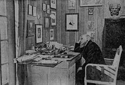 Pfitzner nel suo studio