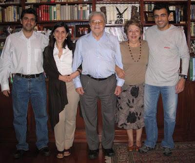 Joaquim y Rosa María Durão con sus hijos Ana, José y Miguel