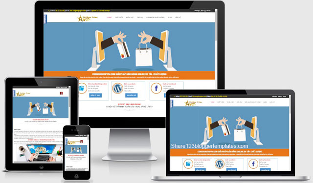Templates blogspot lading page làm trang dịch vụ chuẩn seo