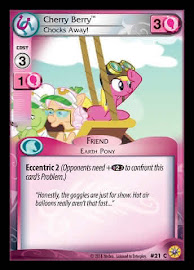 My Little Pony Cherry Berry, Chocks Away! Friends Forever CCG Card