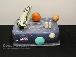 Bolo de aniversário NASA