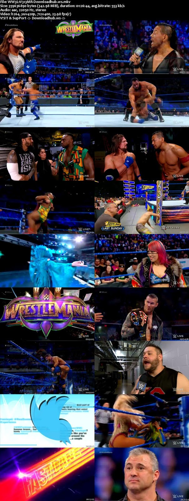 WWE Smackdown Live 13 March 2018 480p HDTV
