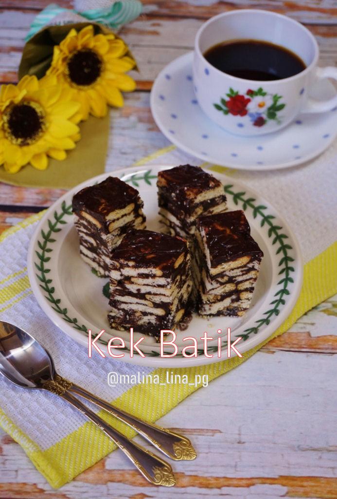 buat kek batik mudah sedap tak guna telur teratak mutiara kasih Resepi Kek Guna Gelatin Enak dan Mudah